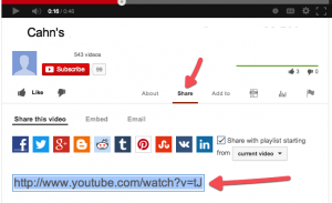 YouTube-Share-URL