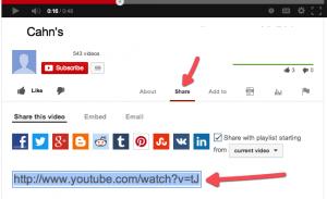 YouTube-Share-URL